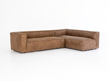 Nolf Sectional - Natural Washed Sand Left Arm 2 Piece Sectional