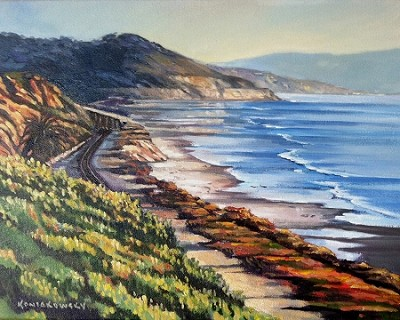 Del Mar to Torrey Pines matted, framed 16x20